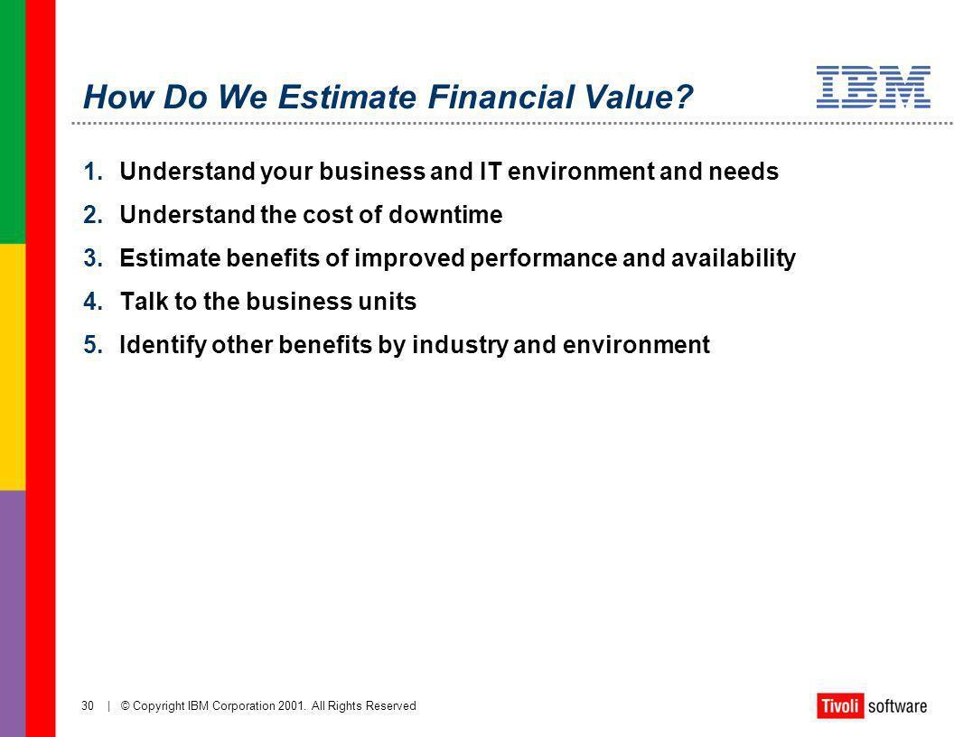 How Do We Estimate Financial Value