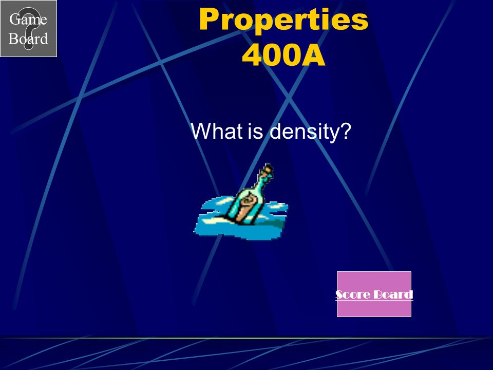 Properties 400A What is density Score Board