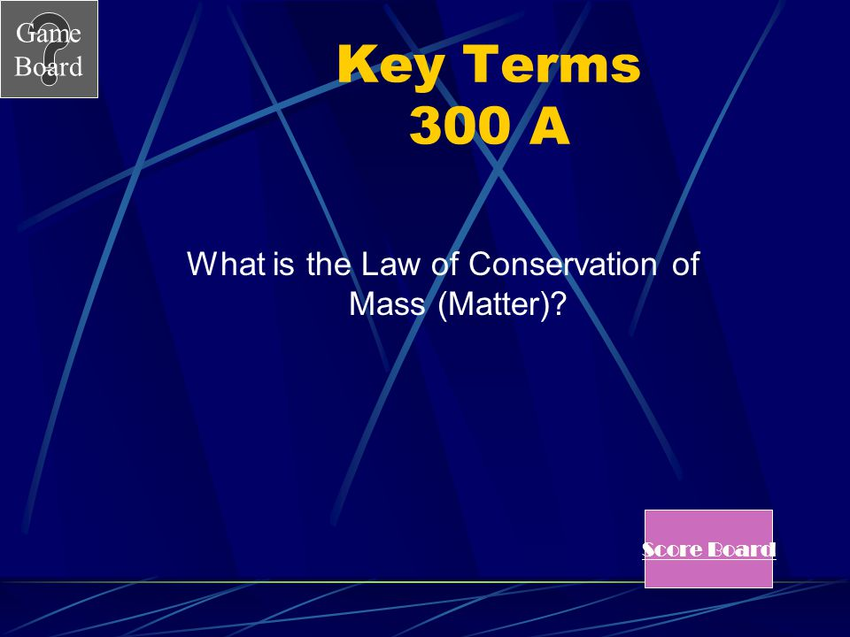 What is the Law of Conservation of Mass (Matter)