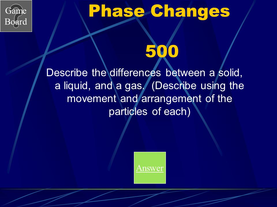 Phase Changes 500
