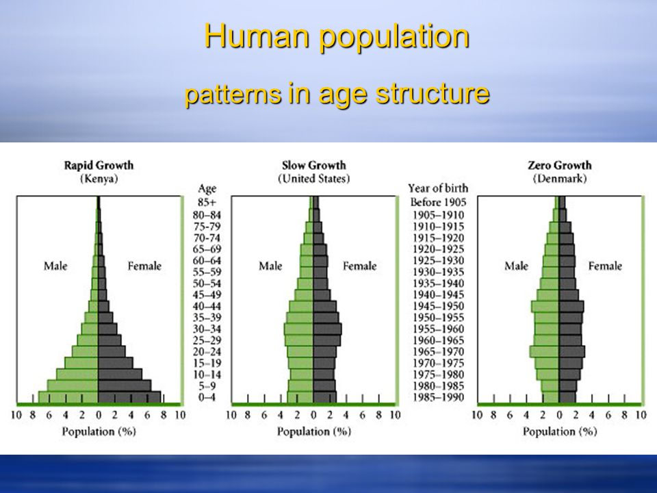 patterns in age structure