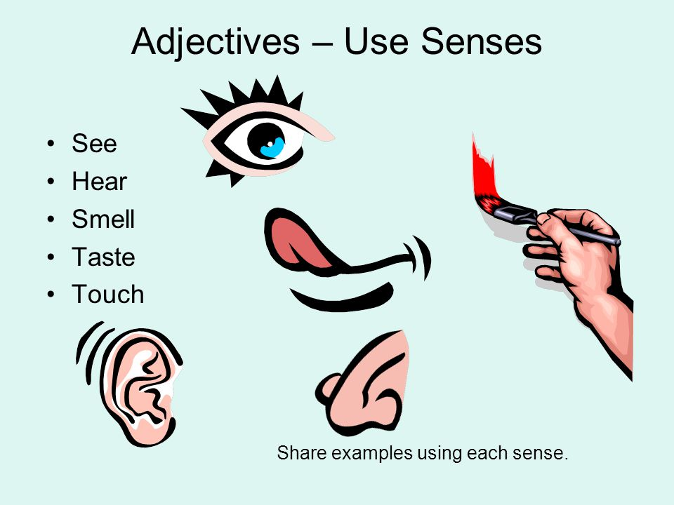 Adjectives – Use Senses