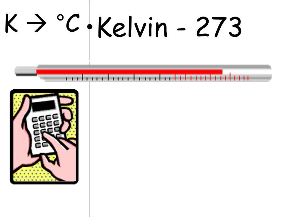 K  °C Kelvin - 273