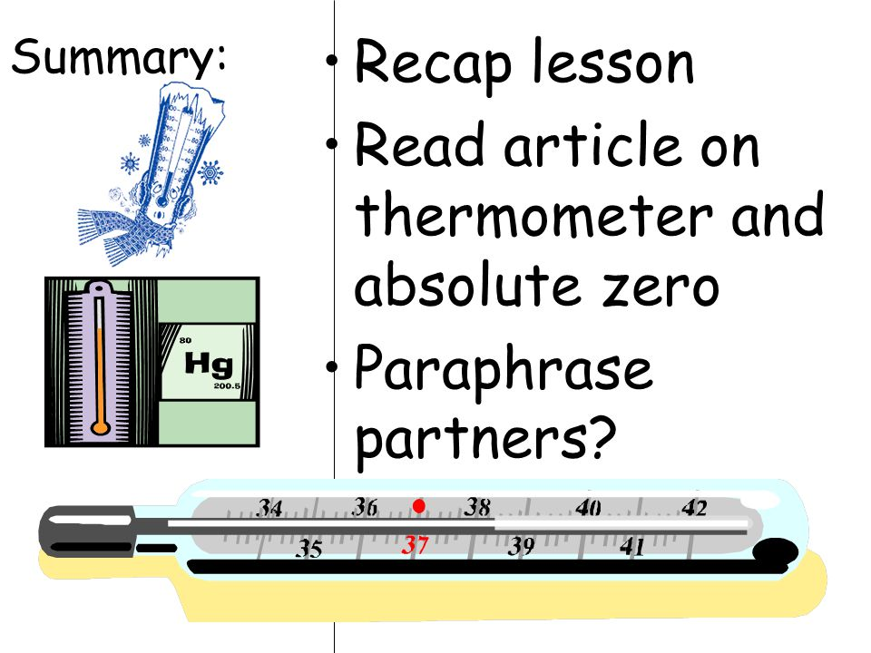 Read article on thermometer and absolute zero