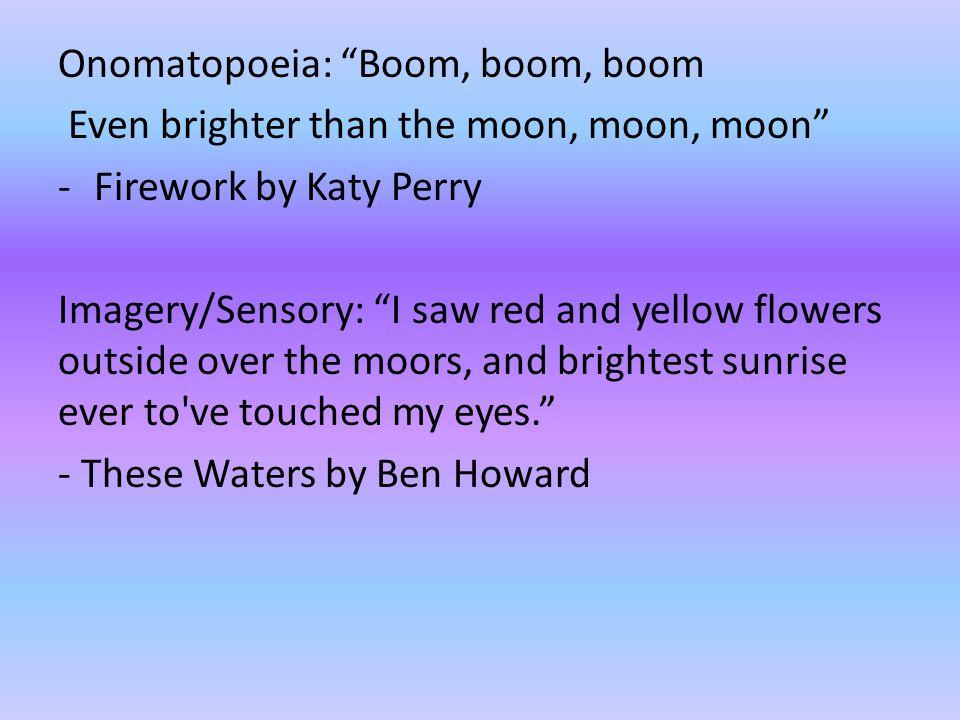 Onomatopoeia: Boom, boom, boom