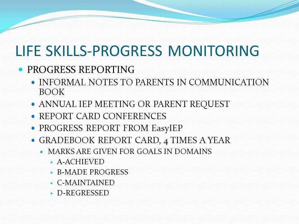 LIFE SKILLS-PROGRESS MONITORING