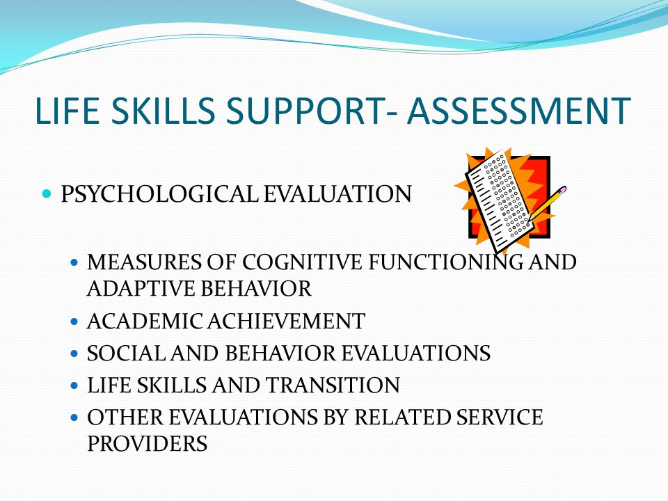 LIFE SKILLS SUPPORT- ASSESSMENT