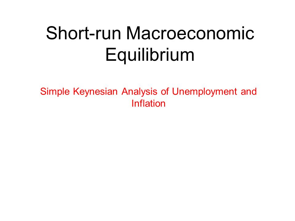 Short-run Macroeconomic Equilibrium