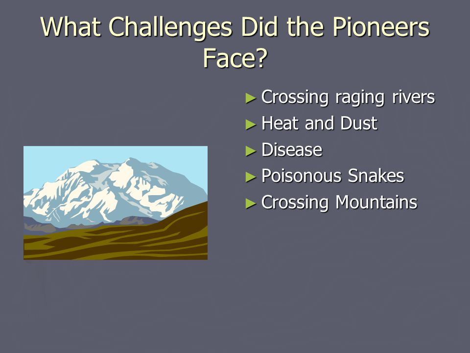 What Challenges Did the Pioneers Face