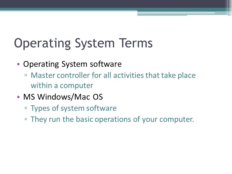 Operating System Terms