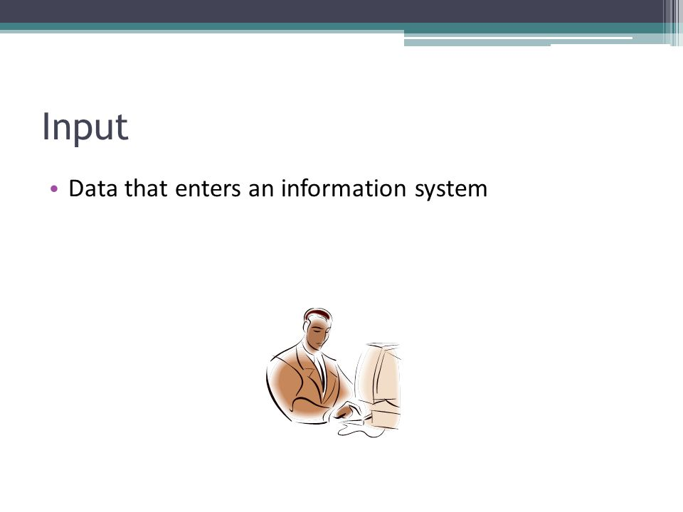 Input Data that enters an information system