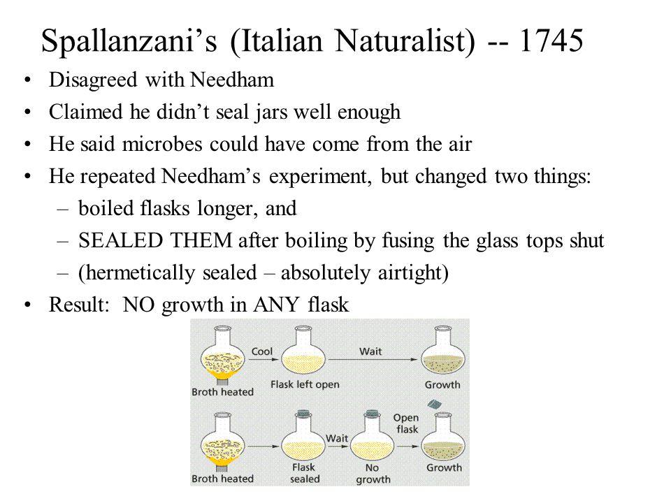 Spallanzani's (Italian Naturalist) -- 1745