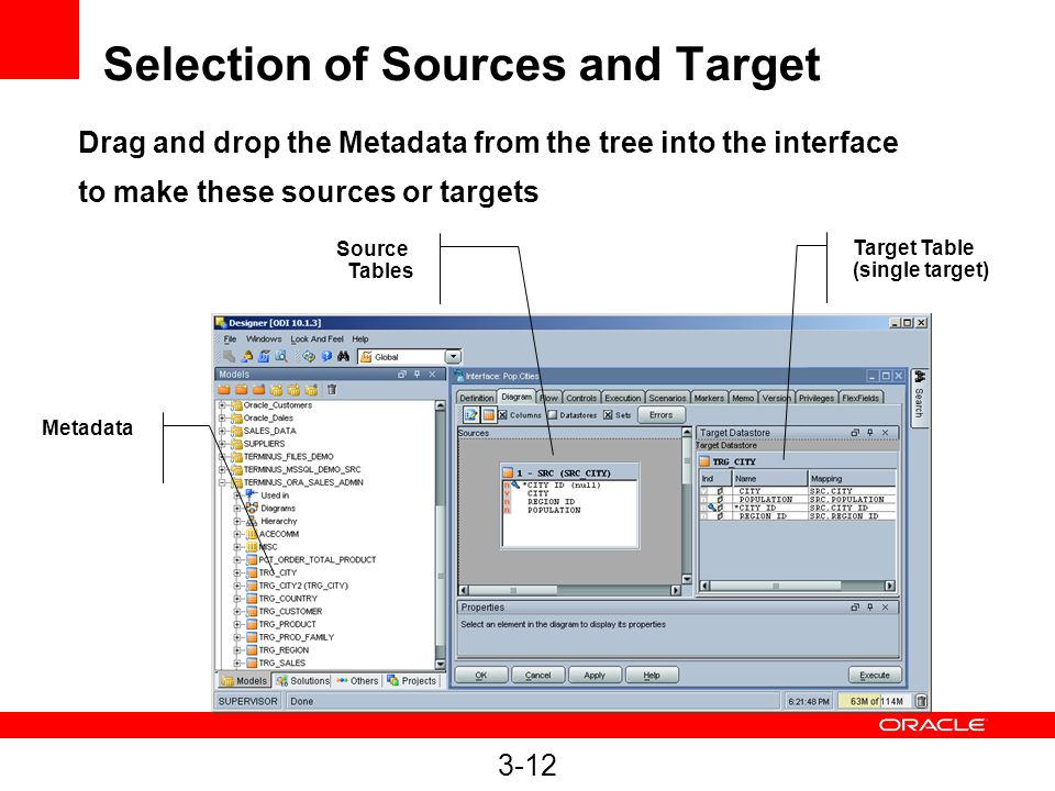 Selection of Sources and Target