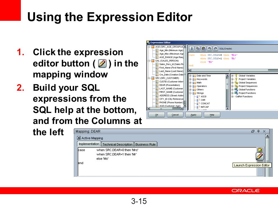 Using the Expression Editor