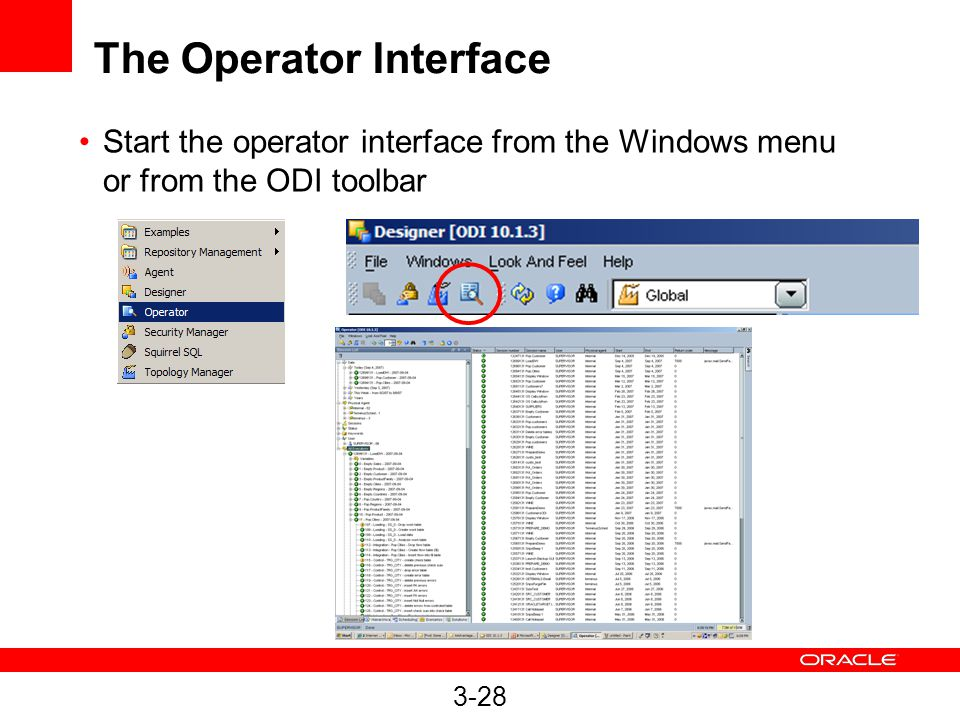 The Operator Interface
