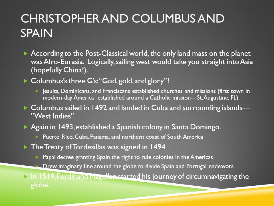 Christopher and Columbus and Spain