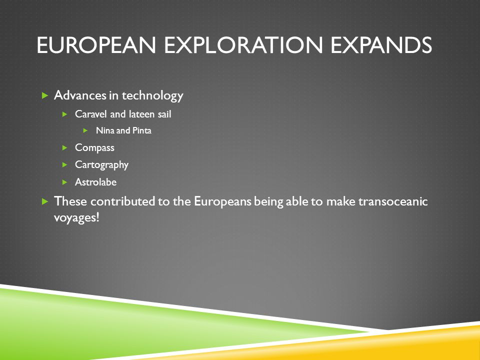 European Exploration Expands