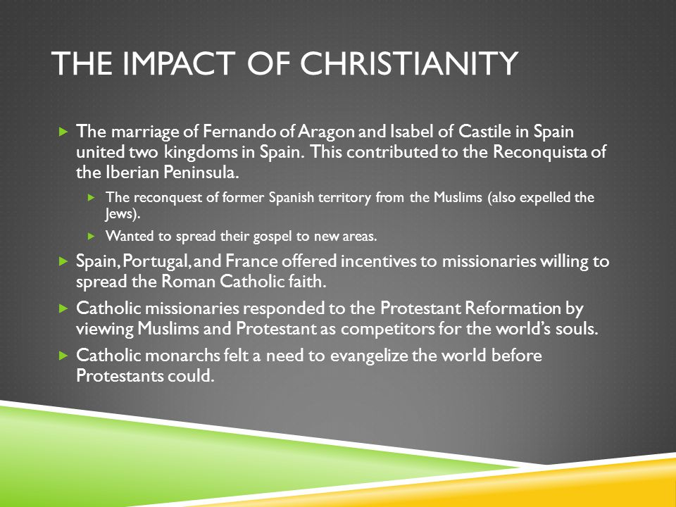 The Impact of Christianity