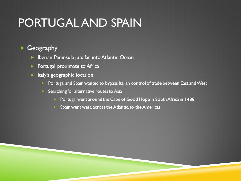 Portugal and Spain Geography