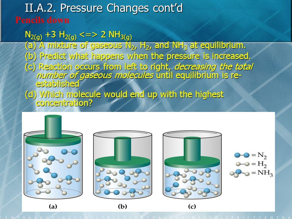II.A.2. Pressure Changes cont'd