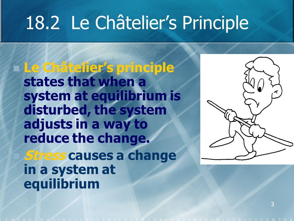 18.2 Le Châtelier's Principle