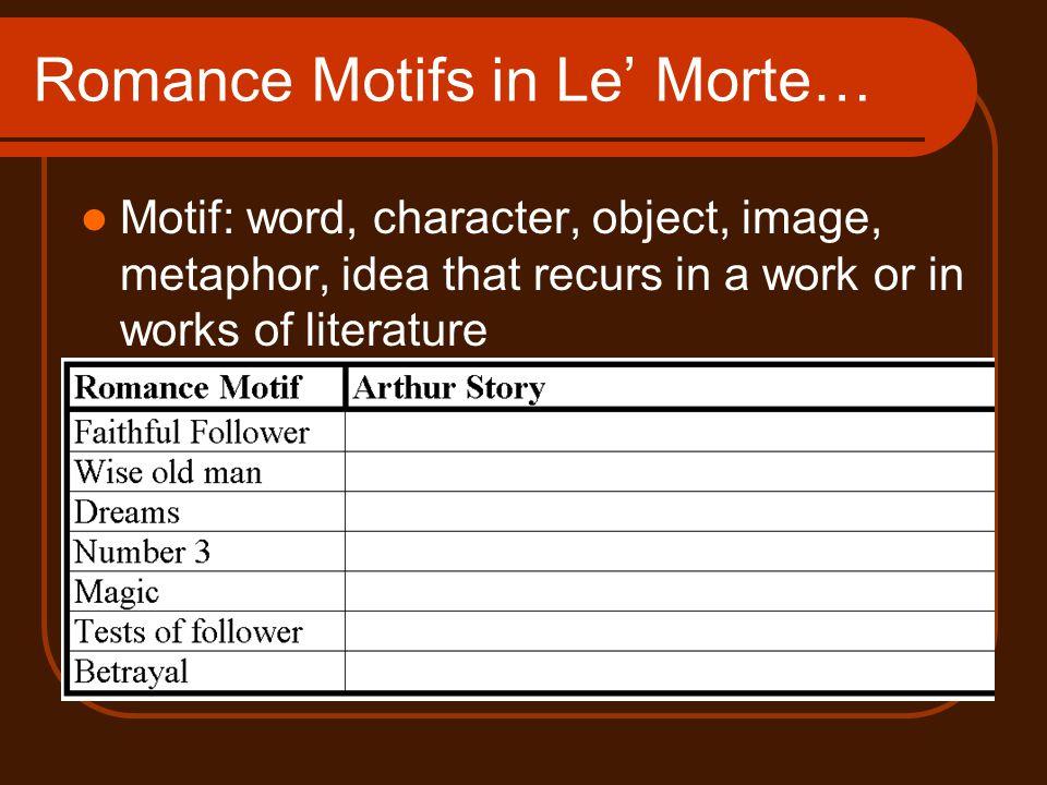 Romance Motifs in Le' Morte…