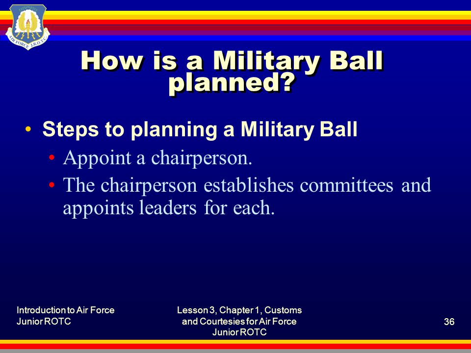 How is a Military Ball planned