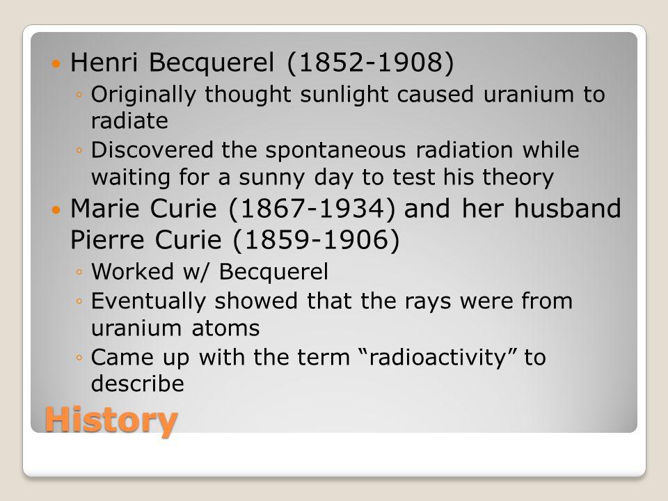 History Henri Becquerel (1852-1908)