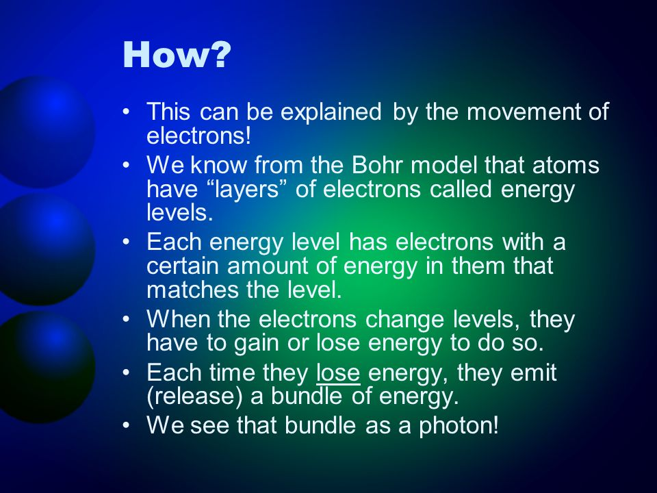 How This can be explained by the movement of electrons!