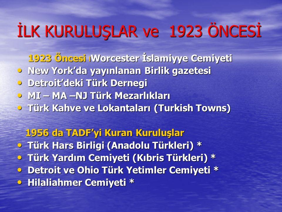 İLK KURULUŞLAR ve 1923 ÖNCESİ
