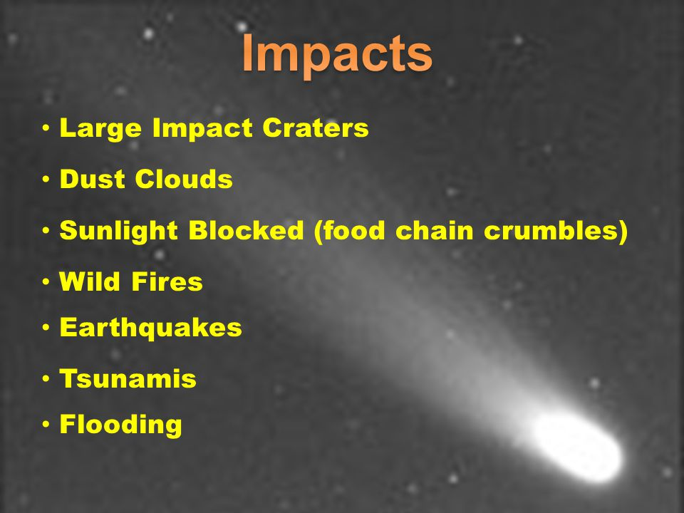 Impacts Large Impact Craters Dust Clouds