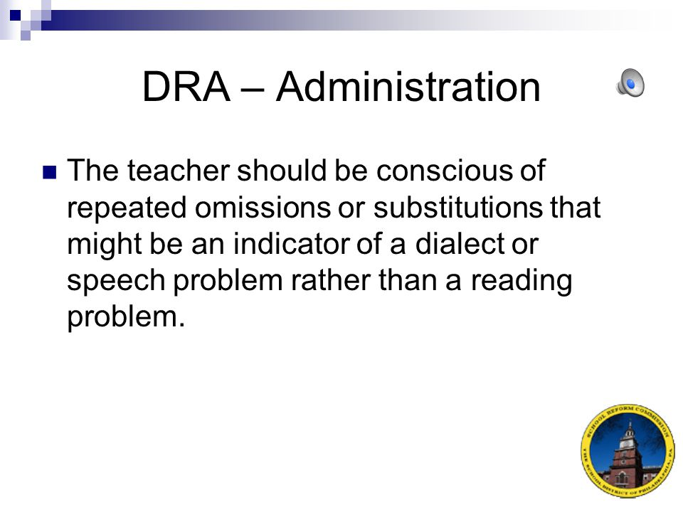 DRA – Administration
