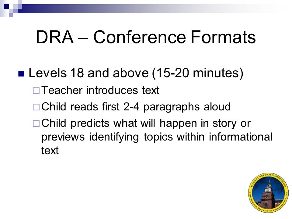 DRA – Conference Formats