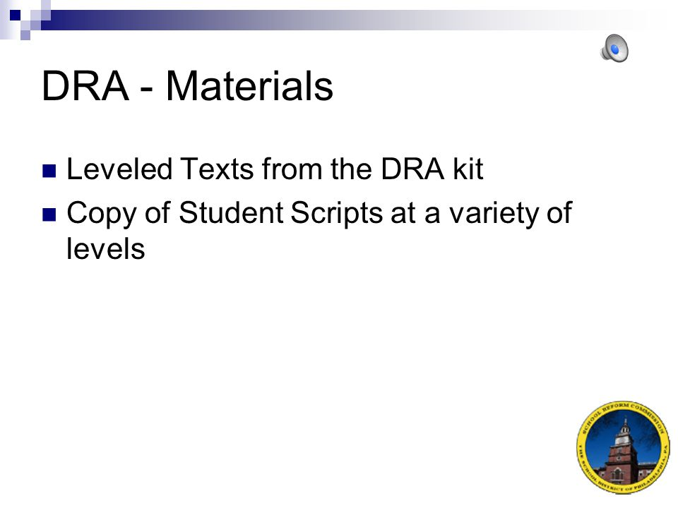 DRA - Materials Leveled Texts from the DRA kit