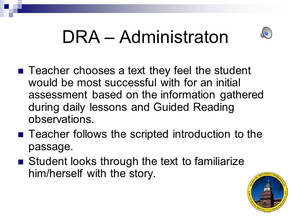 DRA – Administraton