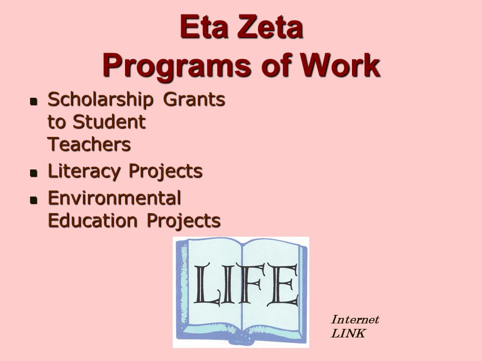 Eta Zeta Programs of Work