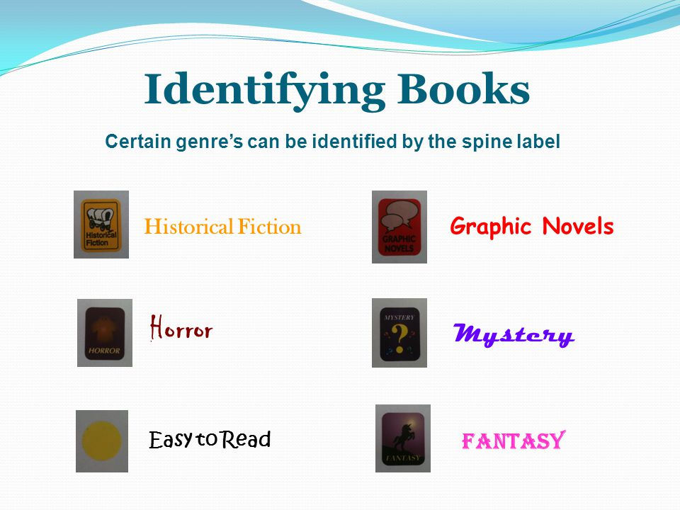 Identifying Books Horror Mystery Historical Fiction Graphic Novels