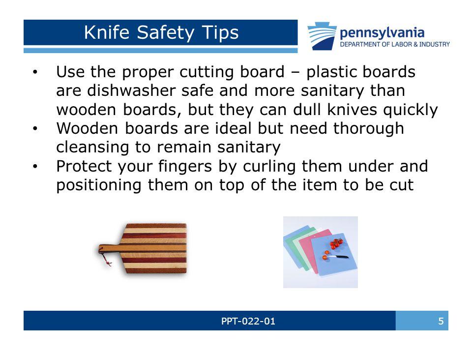 Knife Safety Tips