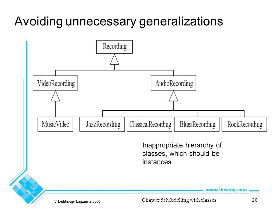 Avoiding unnecessary generalizations