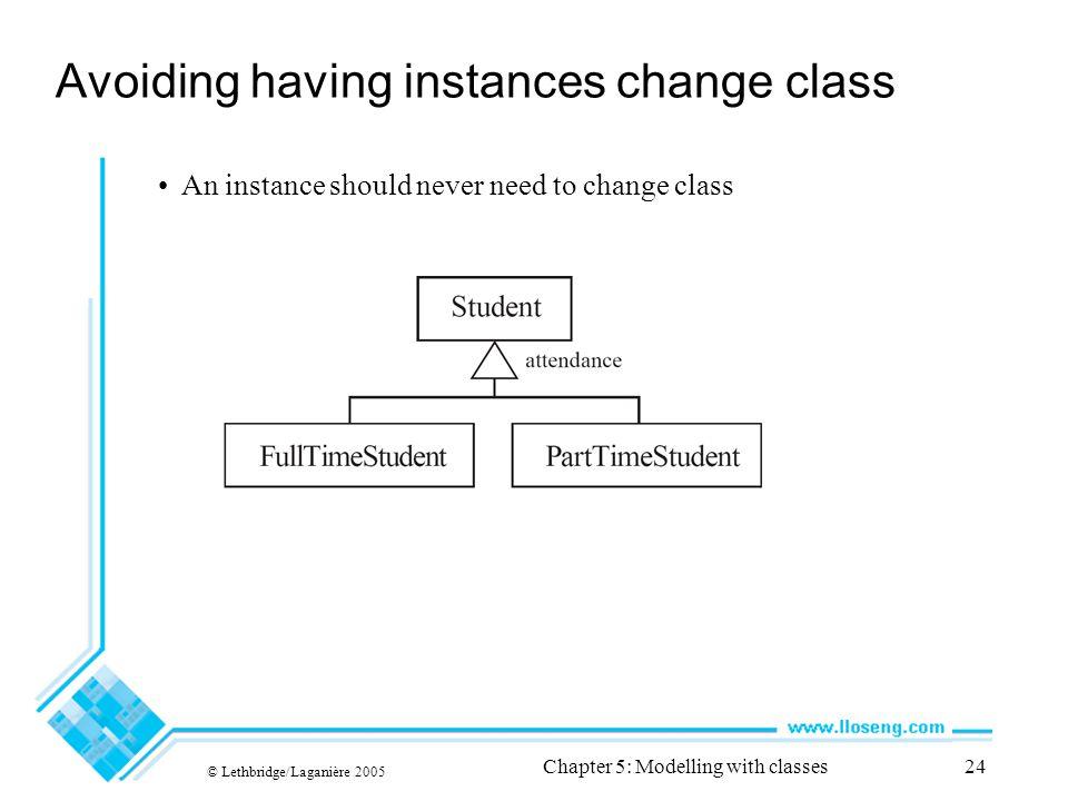 Avoiding having instances change class