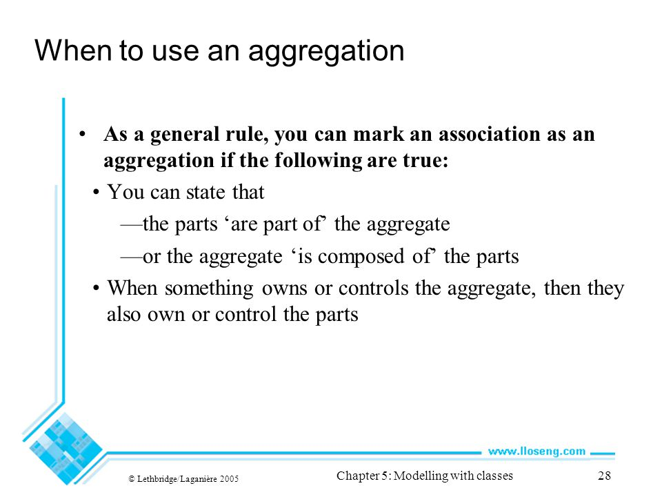 When to use an aggregation