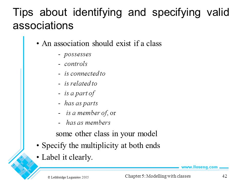Tips about identifying and specifying valid associations