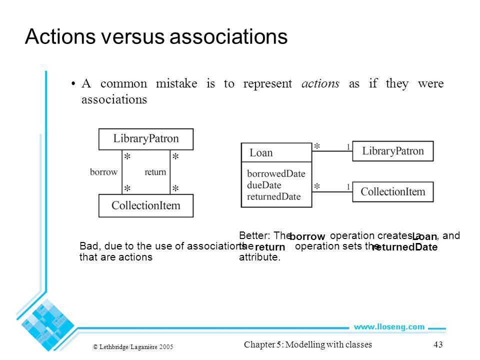 Actions versus associations