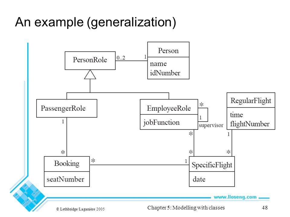 An example (generalization)