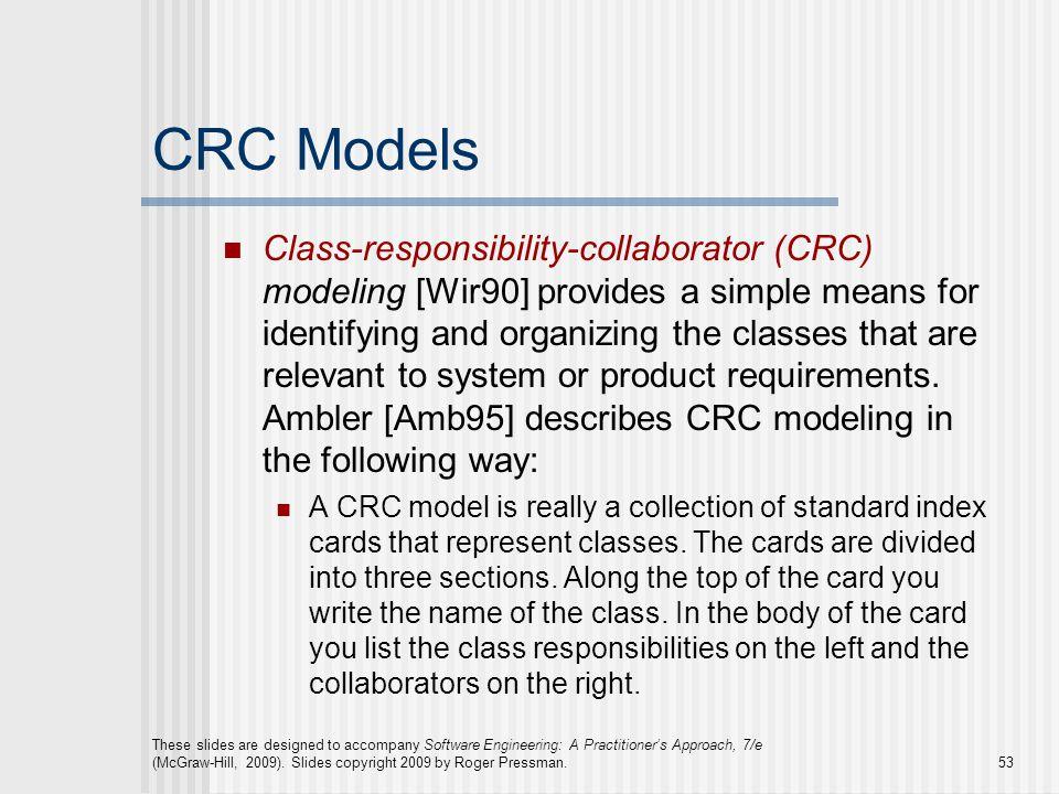 CRC Models