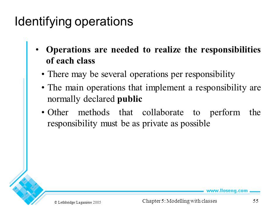 Identifying operations