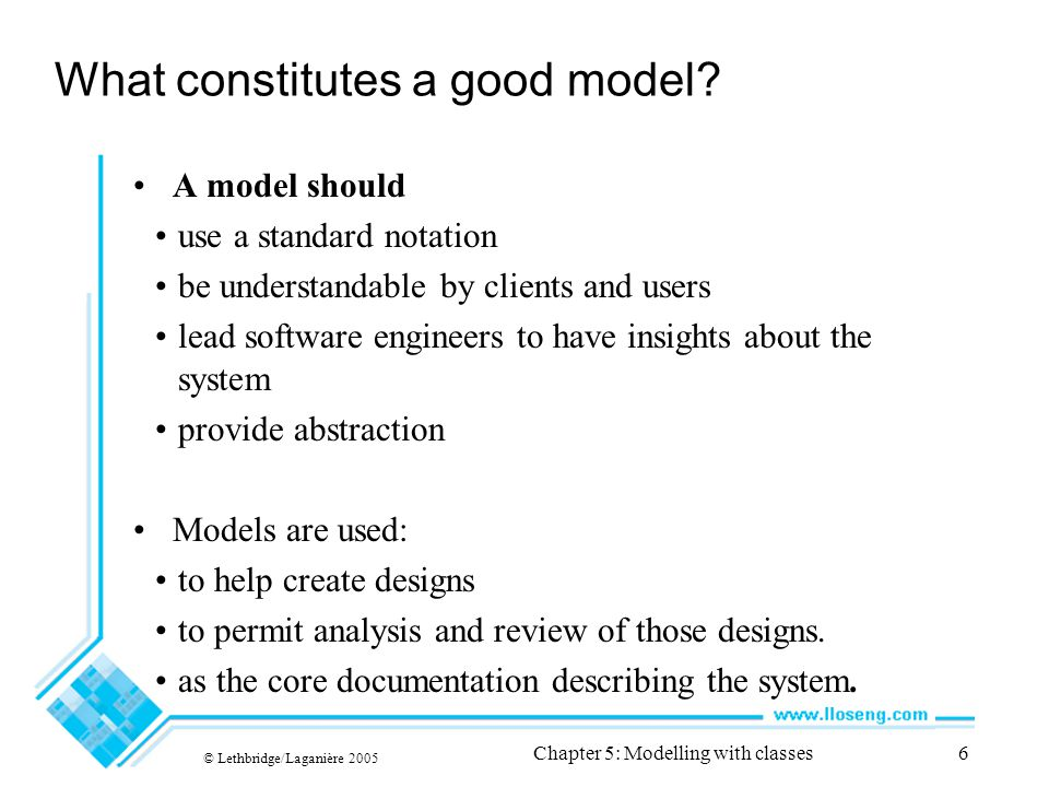 What constitutes a good model