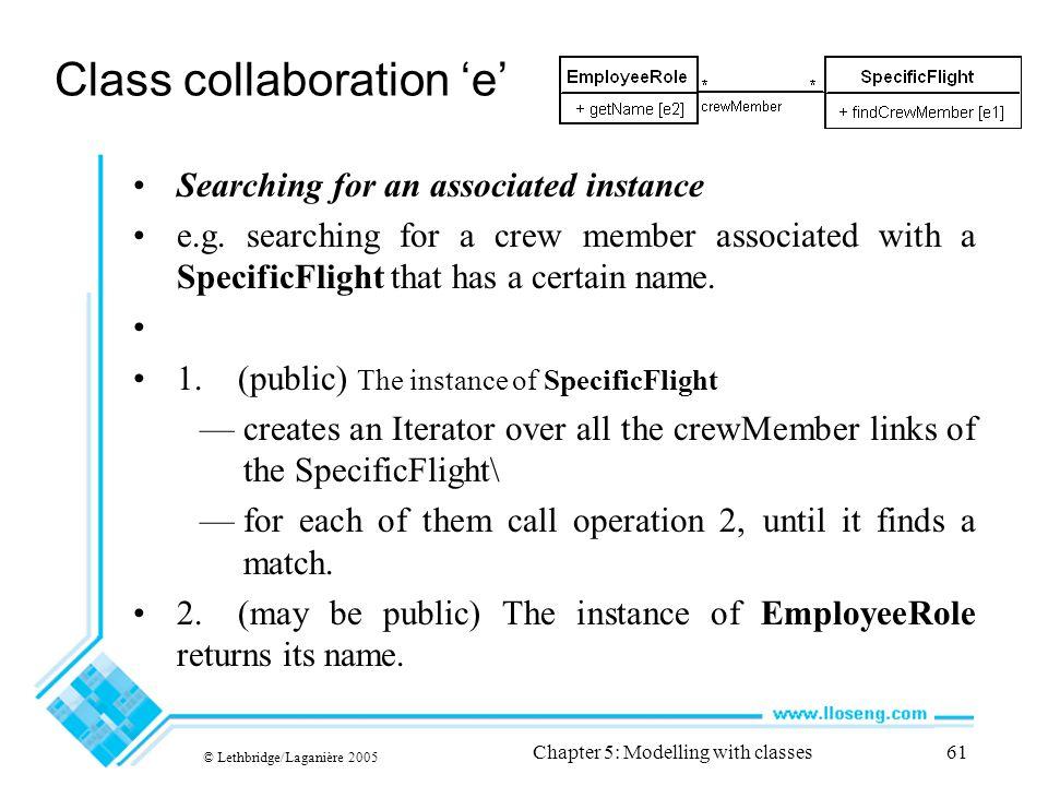 Class collaboration 'e'
