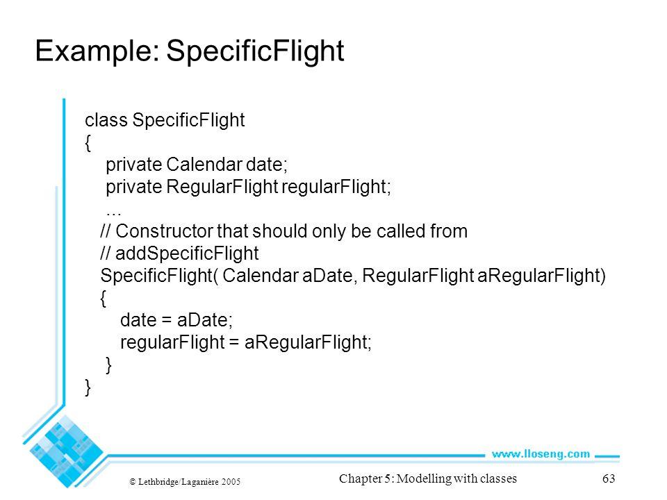 Example: SpecificFlight