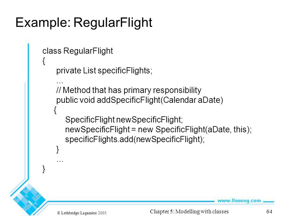 Example: RegularFlight